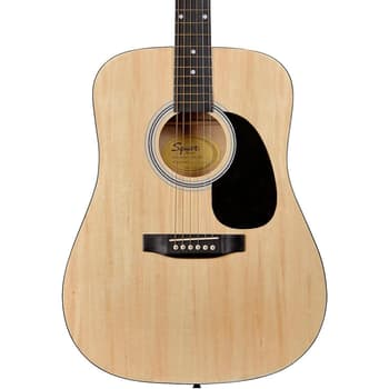 Acoustic Guitar, Guitars, Fender, Fender Squier SA-105N Acoustic Guitar, Natural